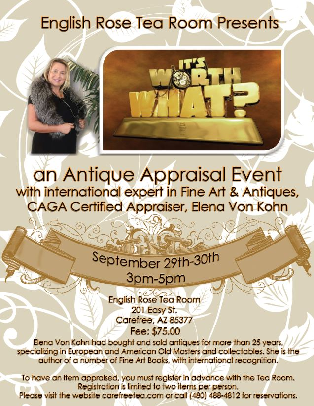 Antique road show at the tea room