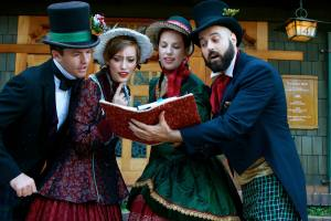 Carolers at the English Rose Tea Room