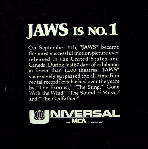 """""""Jaws is No. 1"""""""