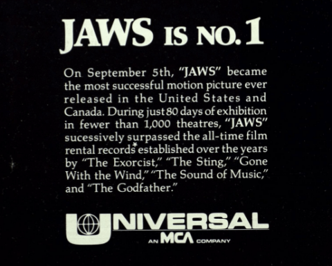 """Jaws is No. 1"""