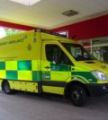 yellow emergency ambulance