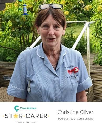 CareLineLive's May Star Carer Christine Oliver