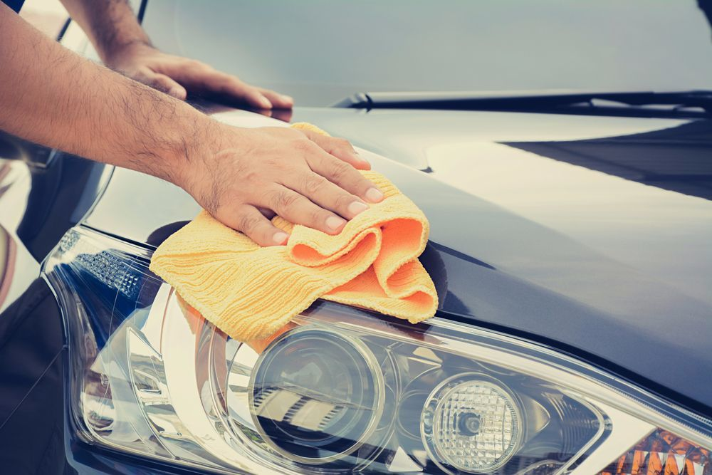 Make sure your car clean and dry - Care my cars