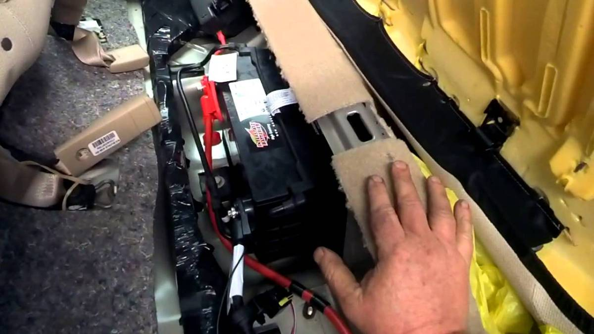 changing a car battery where the battery is located