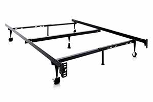 Structures By Malouf Heavy Duty Adjustable Metal Bed Frame