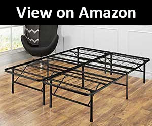 zinus 14 inch metal bed frame for heavy couple