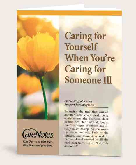 Caring for Yourself When You're Caring for Someone Ill