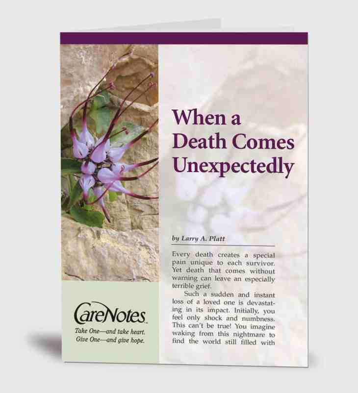 When Death Comes Unexpectedly