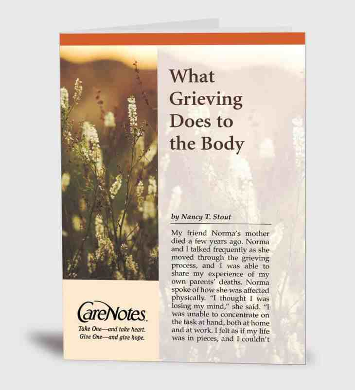 What Grieving Does to the Body
