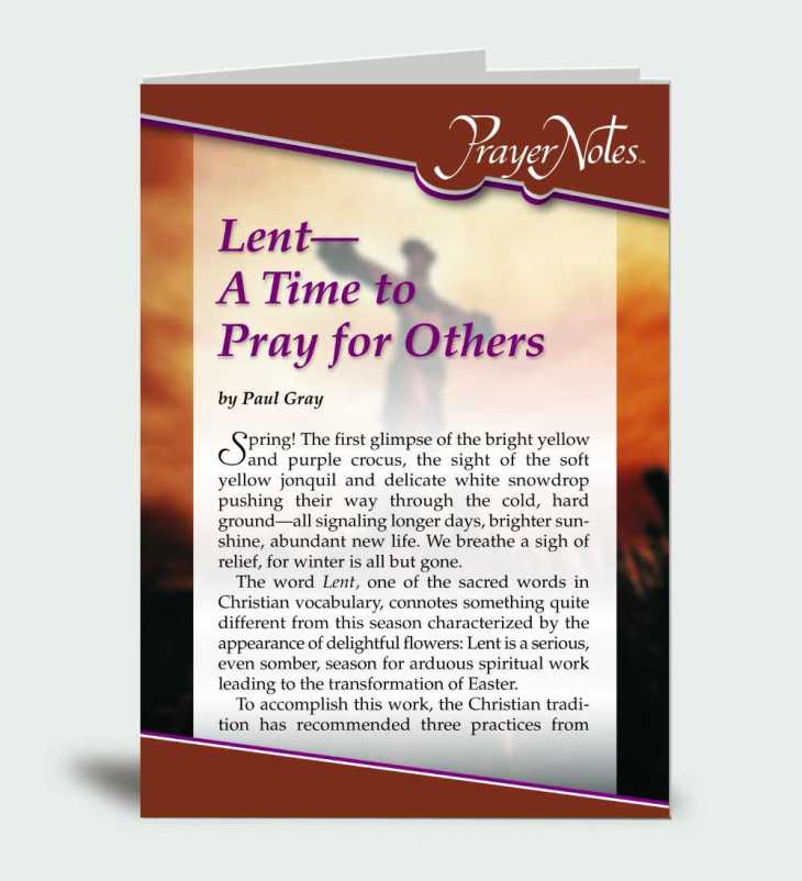 Lent – A Time to Pray for Others