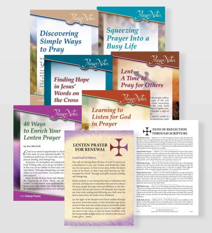 PrayerNotes, a Lenten Prayer Packet