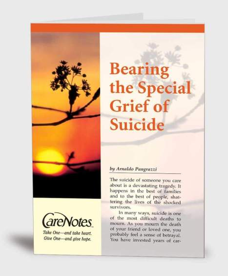 Bearing the Special Grief of Suicide