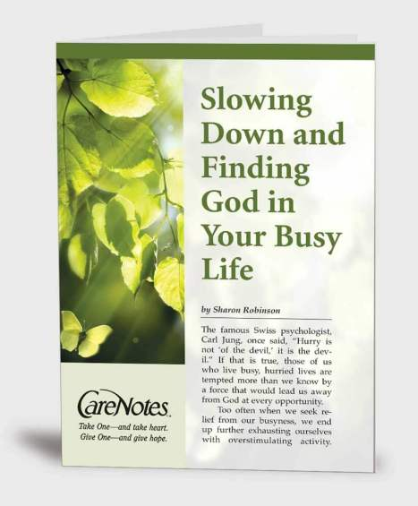 Slowing Down and Finding God in Your Busy Life