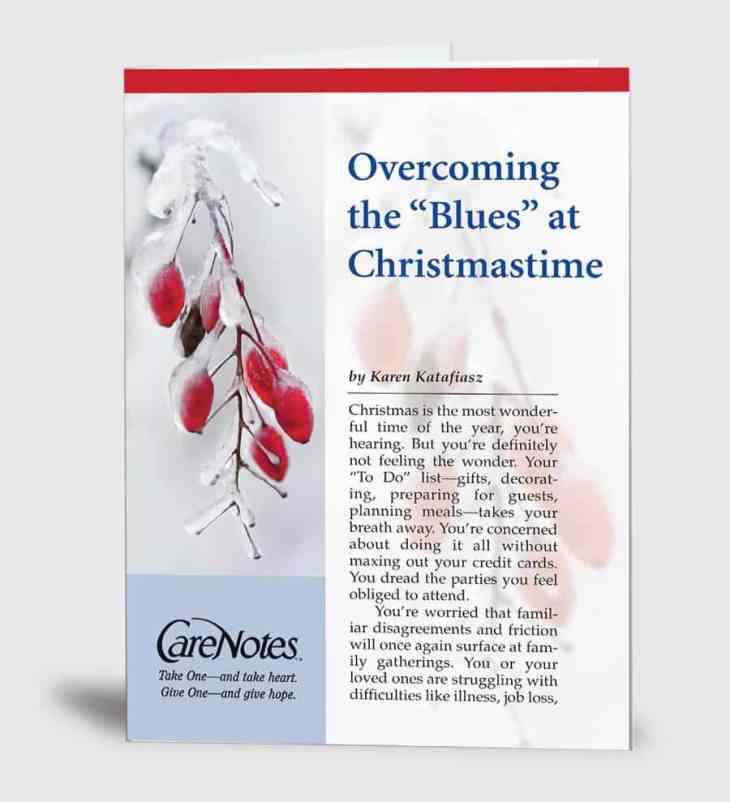 """Overcoming the """"Blues"""" at Christmastime"""