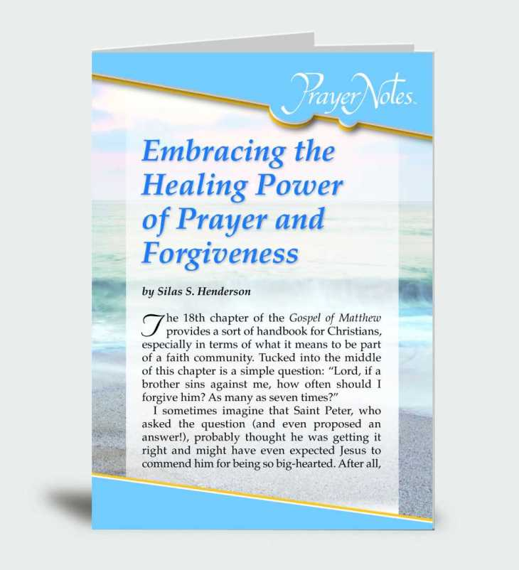 Embracing the Healing Power of Prayer and Forgiveness