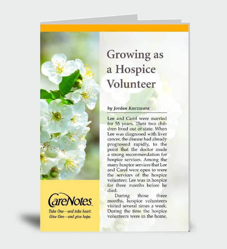 Growing as a Hospice Volunteer
