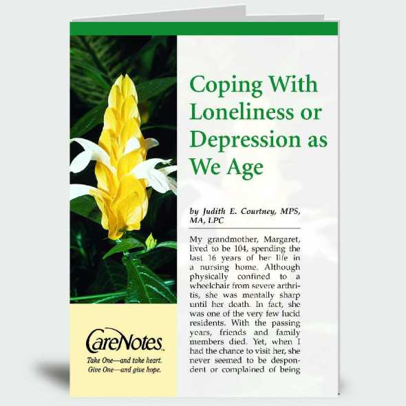 Coping With Loneliness or Depression as We Age