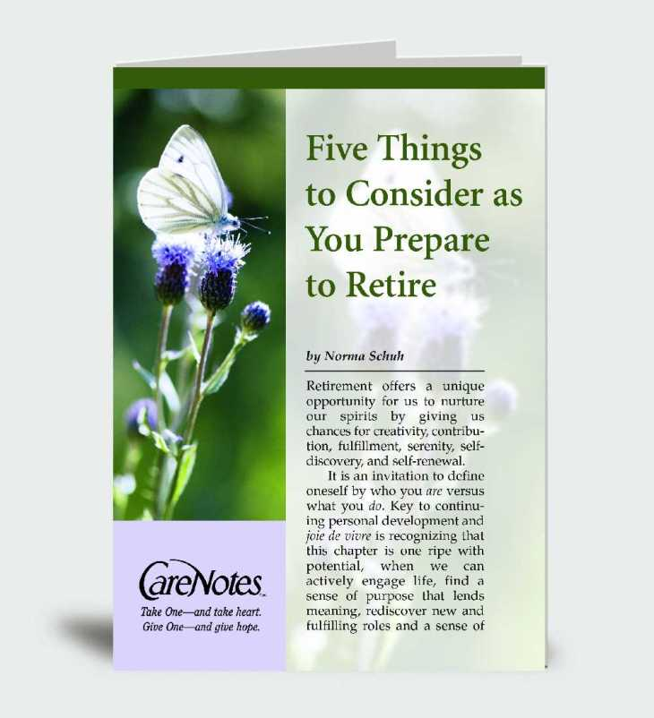 Five Things to Consider as You Prepare to Retire