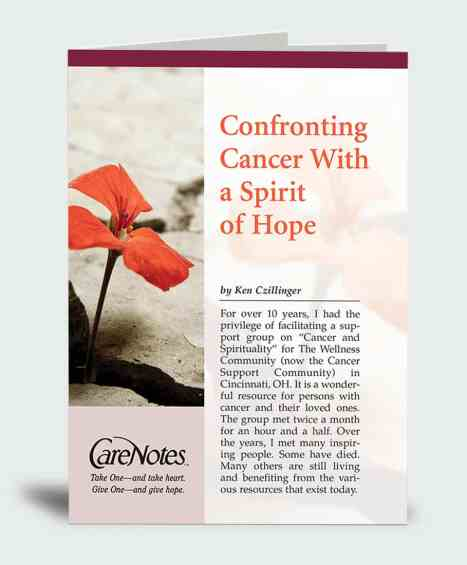 Confronting Cancer With a Spirit of Hope