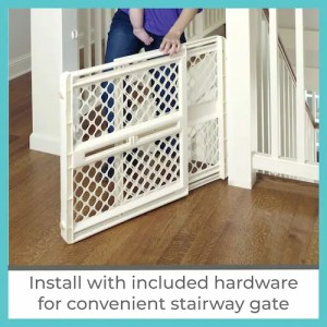 Toddler by North East 42- inch SuperGate Ergo best dog gates for stairs
