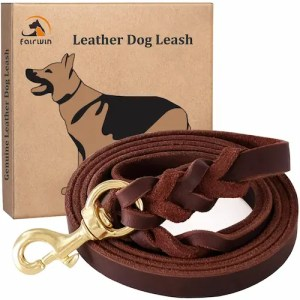 Fairwin Braided best leather dog leashes