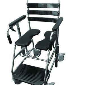 Shower Commode on Wheels to assist in hygiene cleaning in the shower