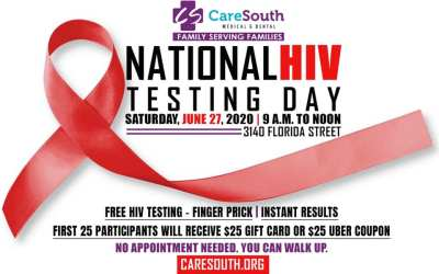 CareSouth offering gift cards, Uber coupons to encourage residents to get tested on National HIV Testing Day, Saturday June 27