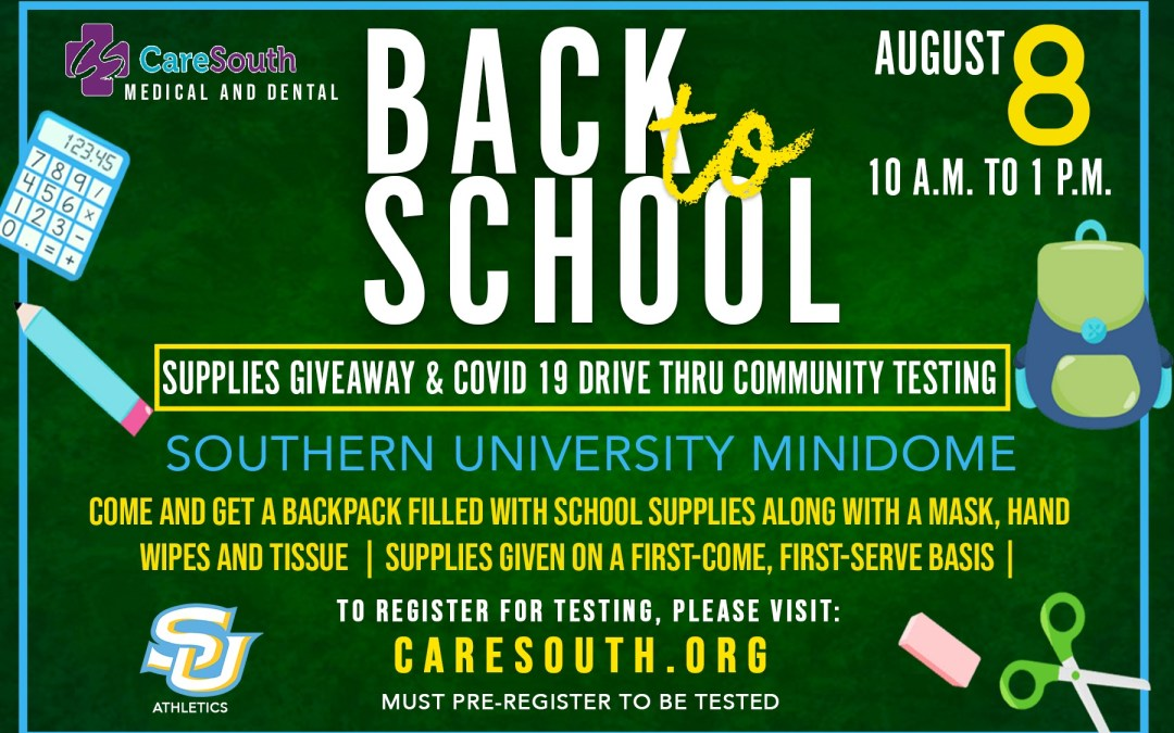 CareSouth, SU Athletics hosting Back-to-School Supplies Giveaway and COVID-19 Drive-thru