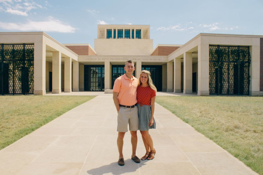 Bush library, Ben and Carrie