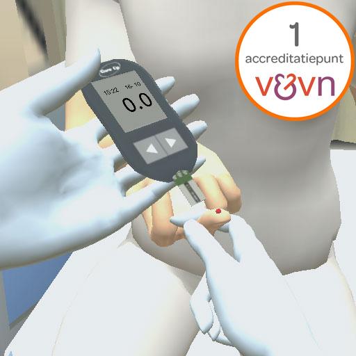 bloedglucosewaarde-meten-met-vingerprikker-en-bloedglucosemeter-accreditatie