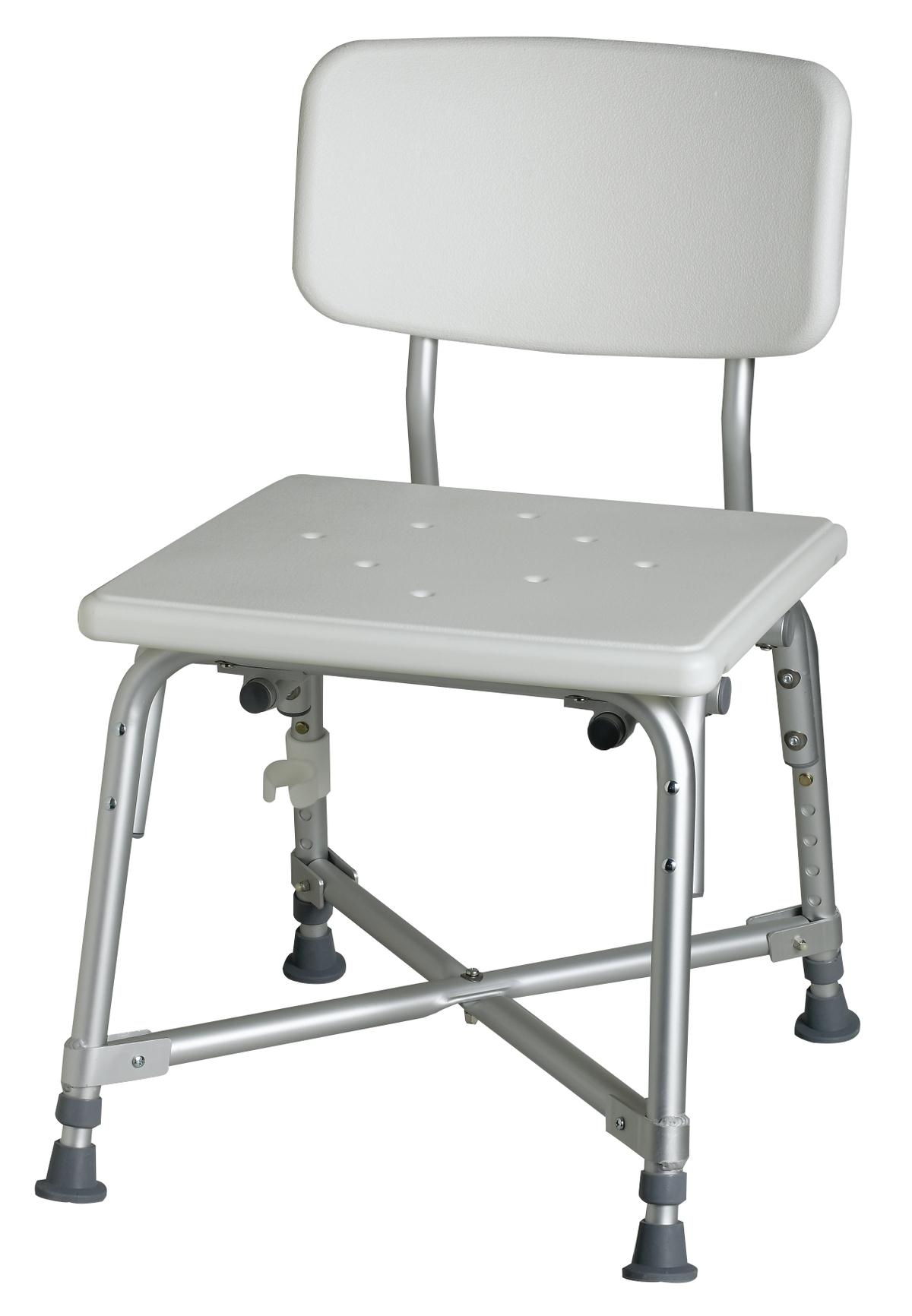 Bariatric Aluminum Bath Bench With Back Careway Wellness