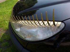 car eyelashes on peugeot 206 007small