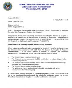 VR&E Letter 28-12-40 1