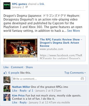 RPG Games Facebook Post