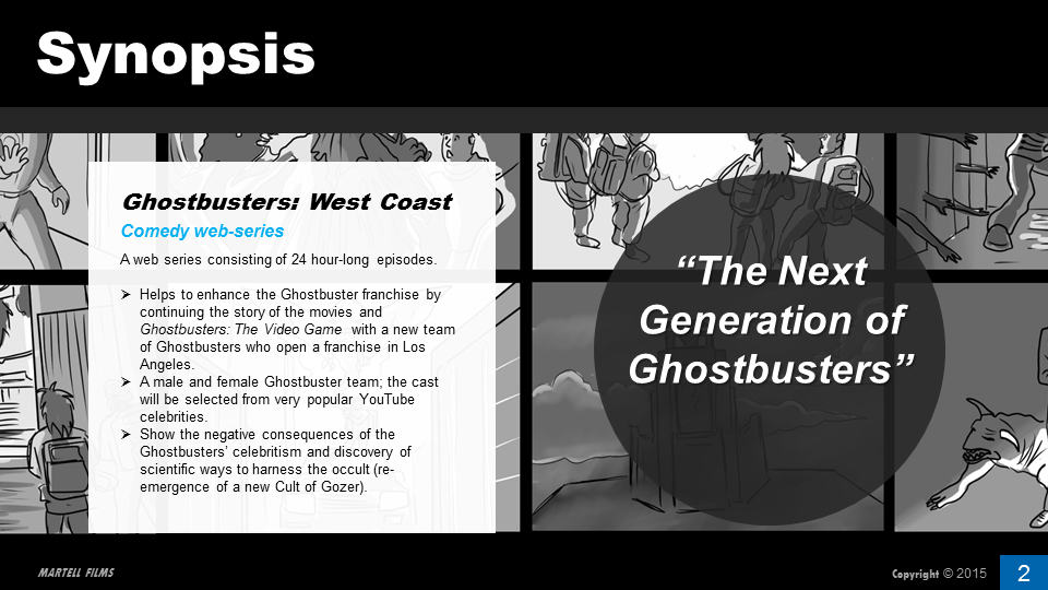 How To Write A Good Pitch For A TV Show Ghostbusters Example - Video game pitch document template