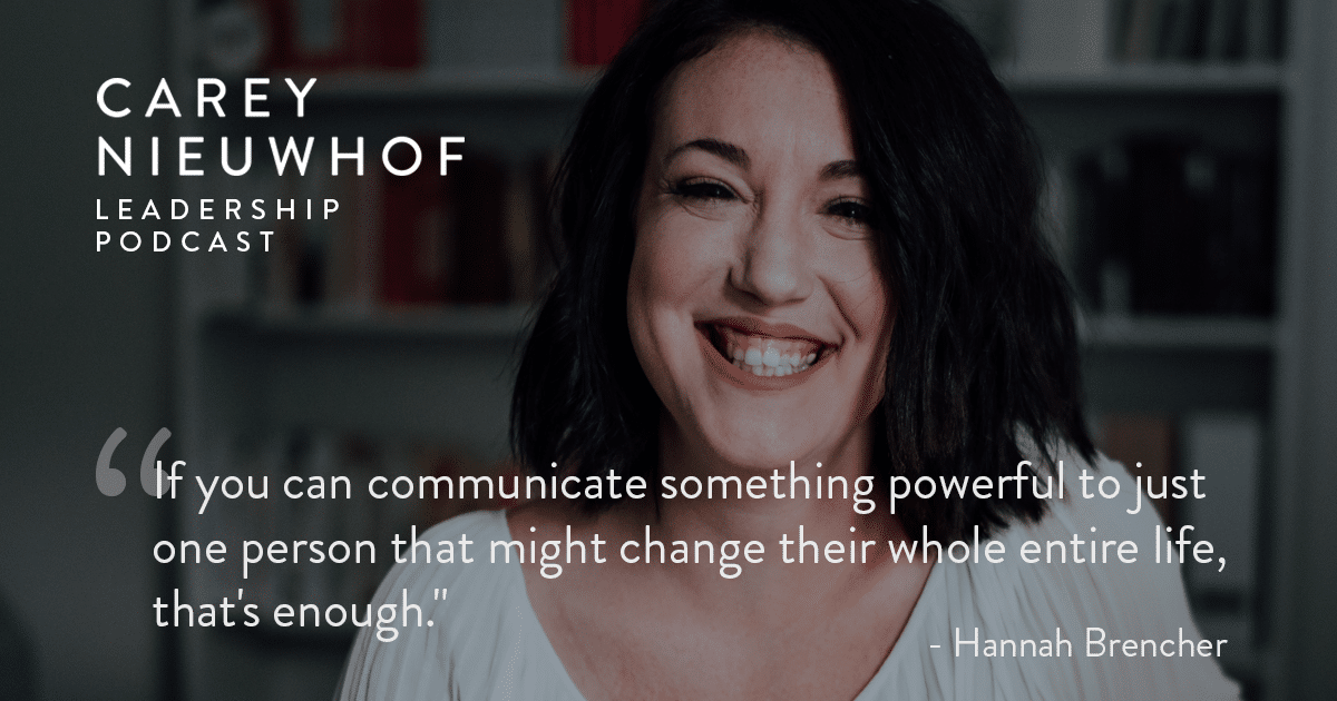 CNLP 394: Hannah Brencher on the Future of Digital and Physical Church with Millennials, Being an Online Influencer and Giving A TED Talk at Age 24