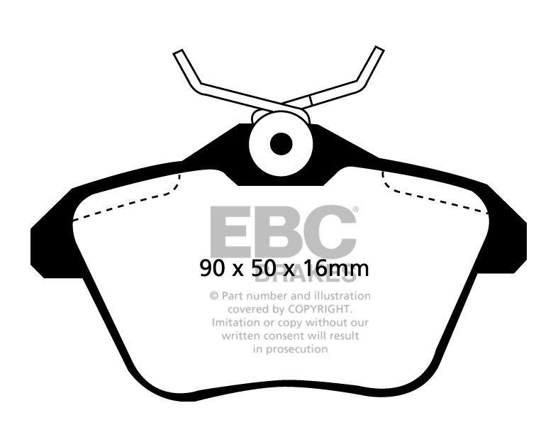 EBC Brakes LANCIA Kappa 2.0 95-98 Remblokken achterzijde