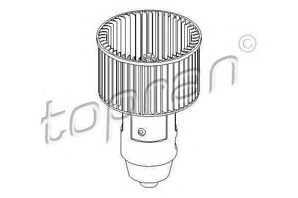 Двигатель вентилятор AUDI 100 Avant (44, 44Q, C3) 2.3
