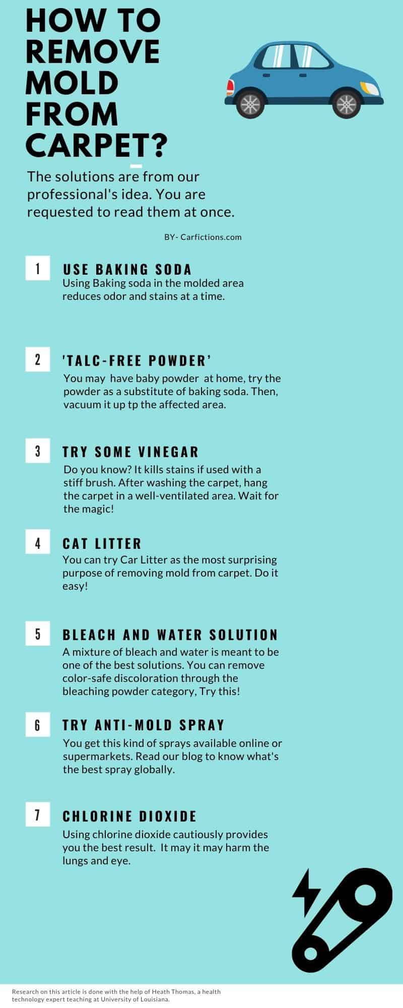 infographic How to remove mold from carpet