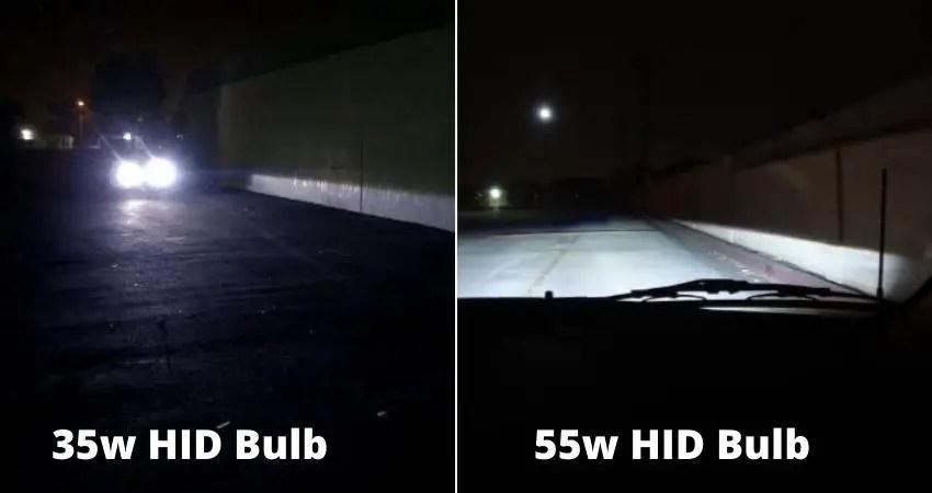 35w vs 55w Hid