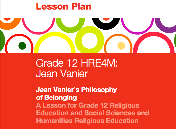 Lesson Plan on Jean Vanier