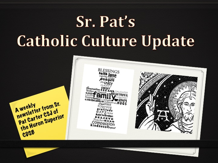 Catholic Culture Update for the week beginning March 9, 2014