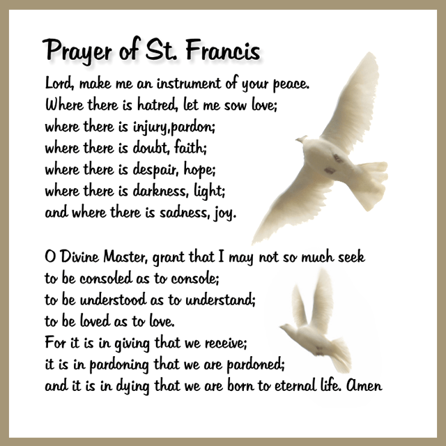 Prayer of St Francis – CARFLEO