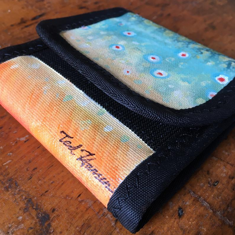 Ted Hansen brook trout custom wader wallet view 3.