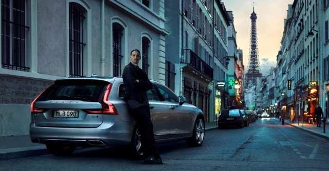 Zlatan Ibrahimović Poses Buy A Volvo V90