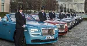 Rolls-Royce chauffeurs prepare for Elephant Family Animal Ball