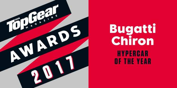 "BBC TopGear Magazine honours Bugatti Chiron as ""Hypercar of the Year"""