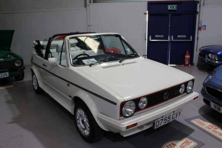 A Golf GTi convertible, previously owned by Sir David Jason OBE, was hotly contested and eventually sold for £17,820.