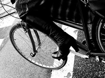 Biking in High Heels at Cycle Chic