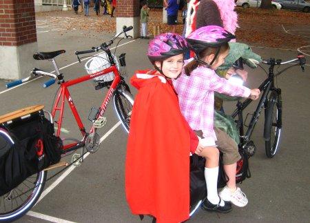Little Red Riding Hood and Company on the Xtracycle Bikepool